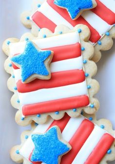 4th of July Cookies via #TheCookieCutterCompany