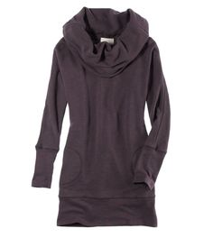 Aerie French Terry Tunic. This with leggings, flats, messy/sock bun. So comfy.