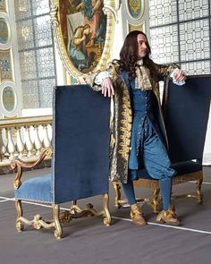 George Blagden as the Sun King, Louis XIV, in the canal+ series Versailles