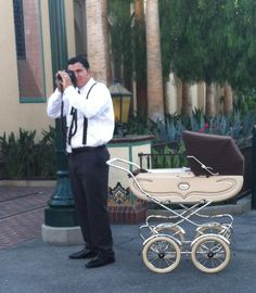 Dapper Day // AHHH! I love the vintage baby carriage!