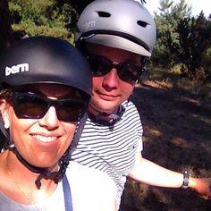 Summer was here yesterday! Thanks for the tan #instagram. #mrandmrshjelt #biking #london #latergam