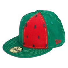 2ab214ff Watermelon New Era 59FIFTY Baseball Cap (Red on Green) Watermelon Patch,  Watermelon Art