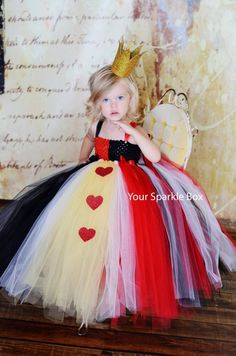 cute queen of hearts costume for little girls