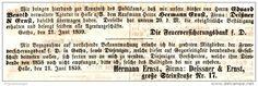 Original-Werbung/ Anzeige 1859 -  DIE FEUERVERSICHERUNGSBANK / DEISSNER & ERNST - HALLE AN DER SAALE - ca. 150 x 45 mm