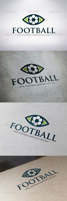 Watch Football  - Logo Design Template Vector #logotype Download it here: http://graphicriver.net/item/watch-football-logo-template/6322766?s_rank=1697?ref=nexion