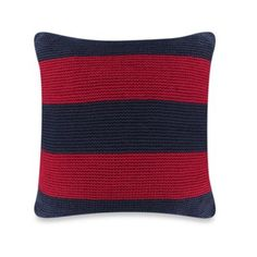 I can make this:  Nautica® Mainsail Knit Square Toss Pillow in Red - BedBathandBeyond.com