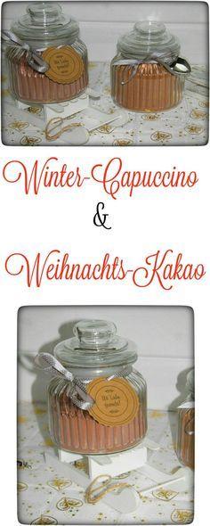 Heute habe ich wieder zwei tolle Geschenkideen für Euch, die man auf alle Fälle immer selber machen sollte: Winter-Cappuccino & Weihnachts-Kakao. Im Thermomix o.ä. super schnell zubereitet.