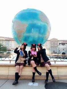 Chilling in Tokyo Disney after school