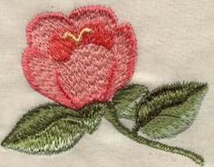 Simple flower with feather stitch shading