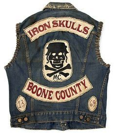 Iron Skull Outlaw MC (est 79 years tradition The Iron Skull Outlaws Motorcycle Club is established out of Cargo-Yard on Elysian Island. Outlaws Motorcycle Club, Motorcycle Vest, Biker Vest, Motorcycle Clubs, Vest Jacket, Denim Cutoffs, Jeans, Bike Gang, Biker Clubs