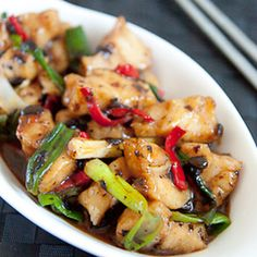 Got some crocodile meat youve been trying to use? : Stir-Fried Crocodile with Spicy Black Bean Sauce Sauce Recipes, Meat Recipes, Seafood Recipes, Indian Food Recipes, Asian Recipes, Healthy Recipes, Ethnic Recipes, Healthy Meals, Crocodile Recipe