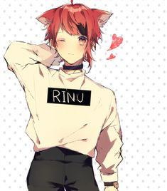 莉犬くん Anime Cat Boy, Neko Boy, Cute Anime Boy, Anime Neko, Haikyuu Anime, Anime Guys, Vocaloid, Honey Works, Anime Characters