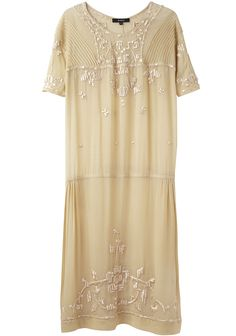 modern flapper dress in jersey with thread embroidery instead of beads (by suno)