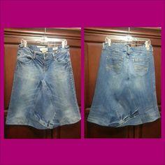 Custom jean skirt