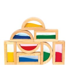 Look what I found on #zulily! Sand Rainbow Block Set #zulilyfinds