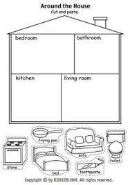Resultado de imagen de room worksheets pre school