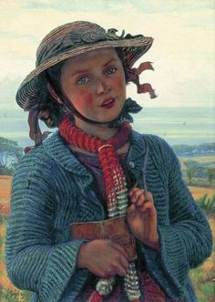 Walking and reading / Paseo y lectura (ilustración de William Holman Hunt)