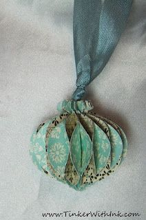 Shabby Vintage Look Ornament/Tag...by Tinker with paper.