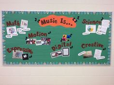 """Learn Me Music: """"Music Is..."""" Bulletin Board Idea 