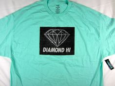 Diamond Supply Co Hi Diamond Blue shirt men's skate Urban size 4XL #DiamondSupplyCo #GraphicTee