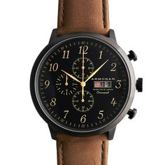 Armogan Watch (Brown) Classic Leather Strap