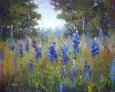 Painting My World: Refining A Demo Painting: Bluebonnets!