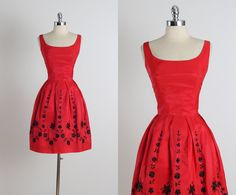 Holidazzle . vintage 1950s dress . vintage party dress . 5113