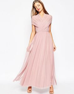 ASOS | ASOS WEDDING Multiway Mesh Maxi Dress at ASOS
