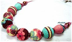 Collar crochet-flores by el rincón de amatista, via Flickr