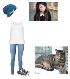 """""""Shellbell (warrior cat oc! Human version!)"""" by luckykittygirl ❤ liked on Polyvore featuring Keds, 7 For All Mankind, Zhenzi and Converse"""