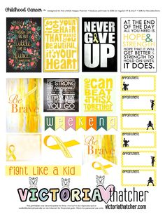 Childhood Cancer Planner Printable. Free. Victoria Thatcher
