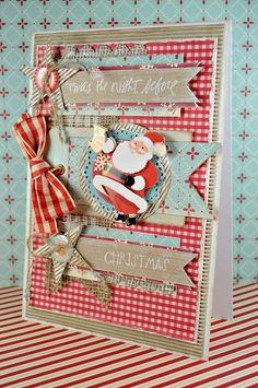 Retro Kitsch Handmade Christmas Card  The Night by purplepeashop, £5.50