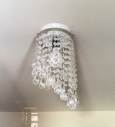 How to Fake A Chandelier & A Giveaway - The Honeycomb Home Hula Hoop Chandelier, Diy Chandelier, Chandeliers, Wire Light Fixture, Diy Paper, Honeycomb, Giveaway, Shabby Chic, Diy Projects