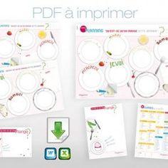 Outils d'organisation à imprimer pour planifier les repas, planning des menus
