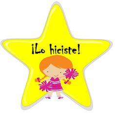 Fichas de Primaria: Estímulos con estrellas Stickers Online, Rubrics, Teaching Resources, School, Grammar Book, Spanish, Encouragement, Activities, Infant Learning Activities
