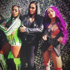 Naomi Tamina & Sasha Banks former Team Bad Wwe Divas Paige, Paige Wwe, Wrestling Divas, Women's Wrestling, Wrestling Stars, Naomi Wwe, Tamina Snuka, Trinity Fatu, Wwe Sasha Banks
