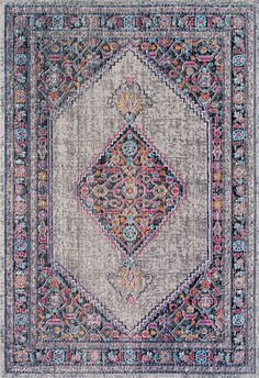 We love a nice grey vintage rug! This is the Rugs USA's Seasoned SW01 Eternal Palmette Knot Medallion Rug!