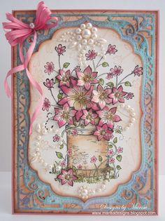 Designs by Marisa: Heartfelt Creations Wednesday - Barrel of Flowers Card