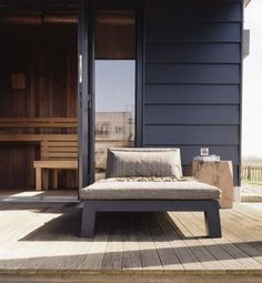 Piet Boon - black siding with weathered teak deck Outdoor Decor, Weathered Teak, Outdoor Space, Outside Living, Famous Interior Designers, Outdoor Space Design, Piet, Home Design Decor, Interior Design