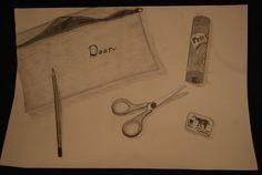 realistisch tekenen, potlood, zwart-wit