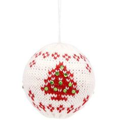 Knitted Bauble with Christmas Tree