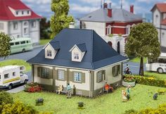 FALLER 130459 HO Bachstraße 3 Residential Building for sale online Ho Scale Buildings, Model Trains, Nice Things, Fairies, Houses, Kit, Mansions, House Styles, Youth