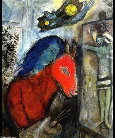 Acheter tableau 39 le coq en amour 39 de marc chagall achat d 39 une r - Acheter une peinture sur toile ...