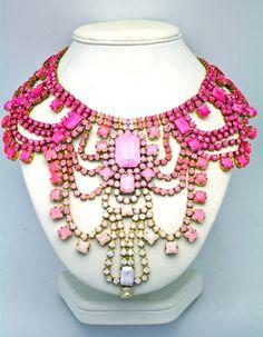 Doloris Petunia neon ombre necklace $475