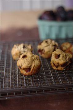 Ricotta Italian Prune Plum Muffins, gluten free bursting with fruit in every bite!