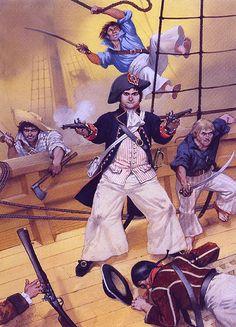 """""""Robert Surcouf boarding a British East Indiaman,1796.""""- La Pintura y la Guerra. Sursumkorda in memoriam"""