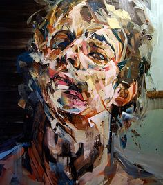 If attention deficit disorder could be illustrated, I believe it would look like these paintings by Andrew Salgado.