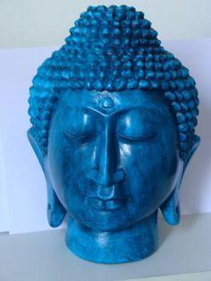 Cabeça de Buda azul turquesa