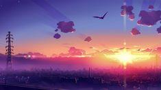 Anime sunset [1366x768] - Imgur