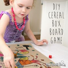 DIY Cereal box board game | The Craft Train